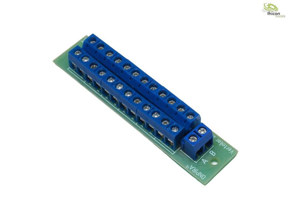 Stromverteiler-Platine 12pol lang