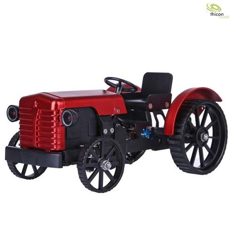 Traktor aus Metall mit E-Motor und Bluetooth-Steuerung