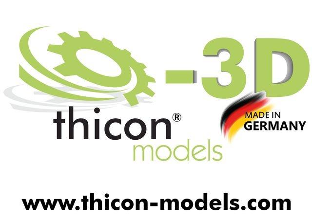 Aufkleber A4 thicon-3D
