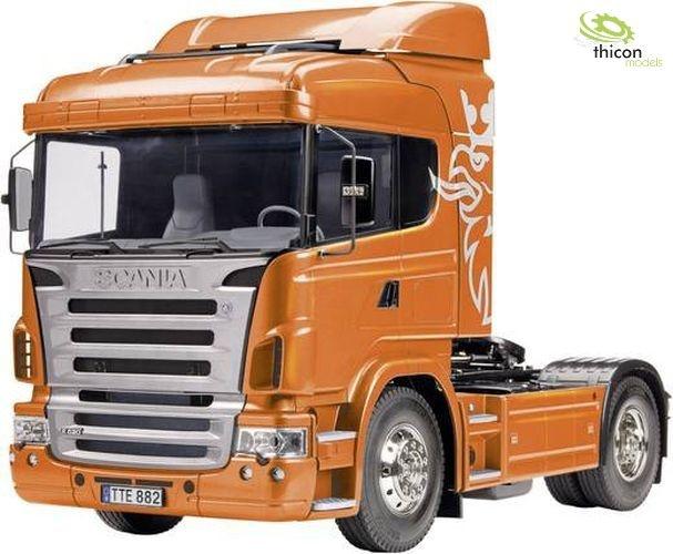 1 14 SCANIA r620 6x4 Highline verniciato arancione TAMIYA 300056338