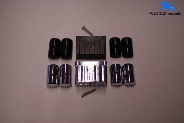 MAN Batteriekasten mit Druckluftbehör Chrom