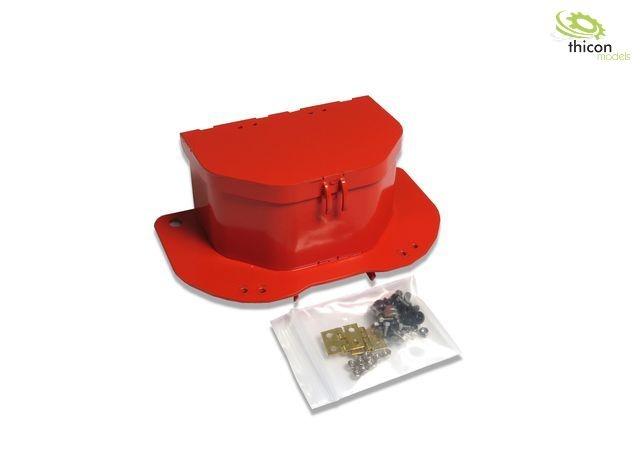 Werkzeugbox pulverlackiert,  Metall für Linde Gabelstapler