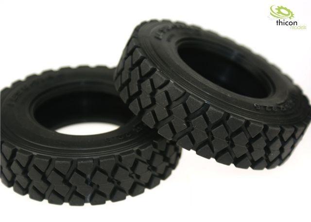 1:14 Reifen Gelände mit Einlagen schmal Paar