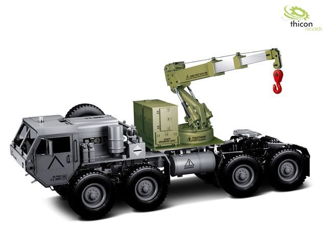 Loading crane green with spindle drive