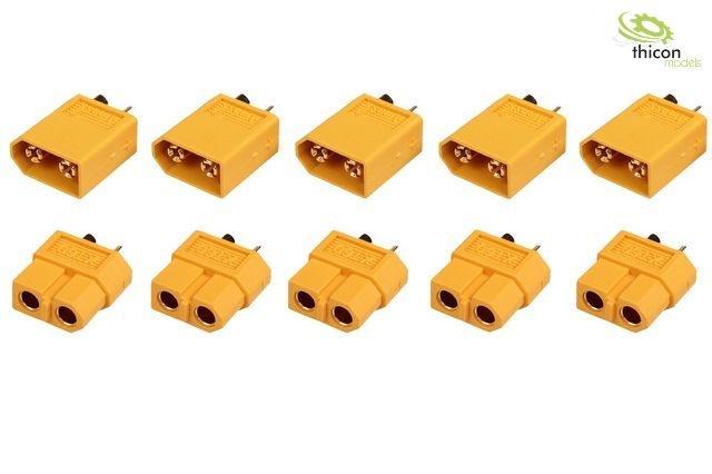 XT 60 3,5 mm Goldkontakte gelb - 5 Paar