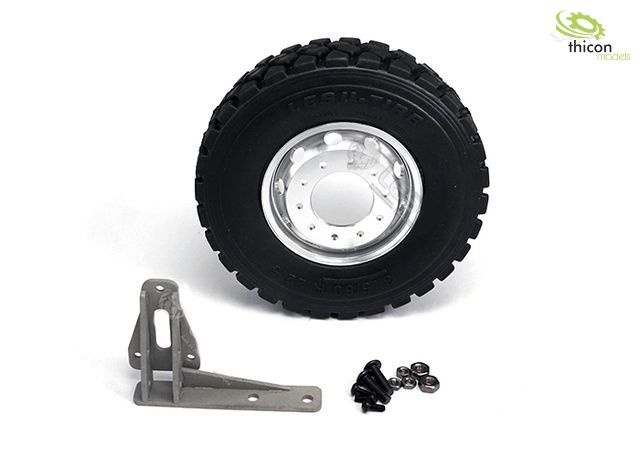 1:14 spare wheel with holder for roll-off container