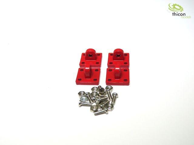 Verzurrösen-Anker aus Metall 4 Stück