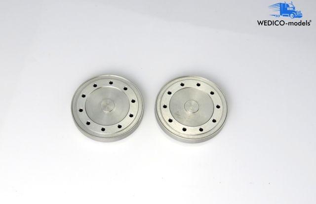 Aluminium - Radkappen für Hinterachse