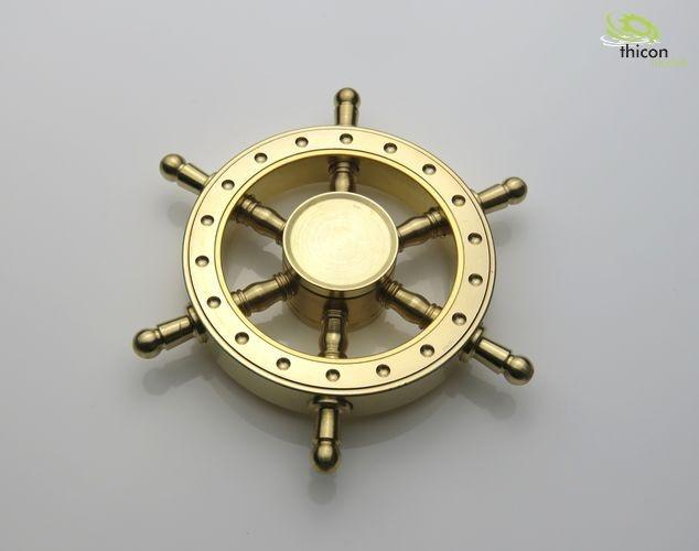 Fidget Spinner Premium Jacht-Style Steuerrad Messing