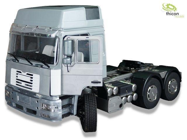 1:14 6x6 MAN F2000 metal tractor-trailer