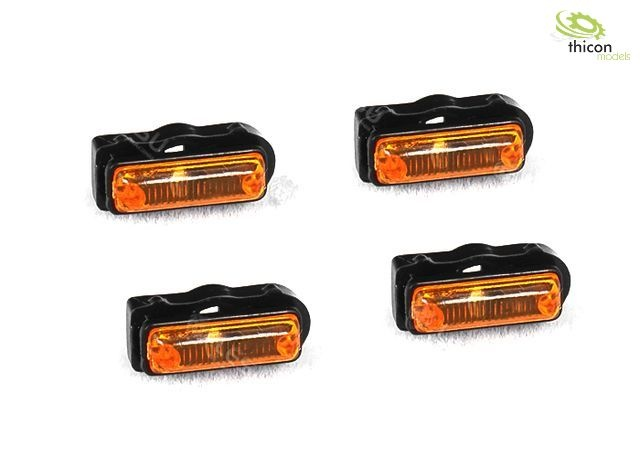 1:14 side marker lights with LED 2V 12mA 4 pieces