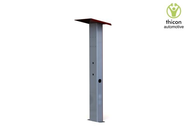 TLS-1 charging station gray / red powder-coated for TESLA Wa