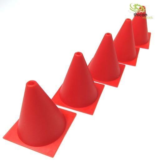 Pylon Kunststoff rot 1:10 5Stück