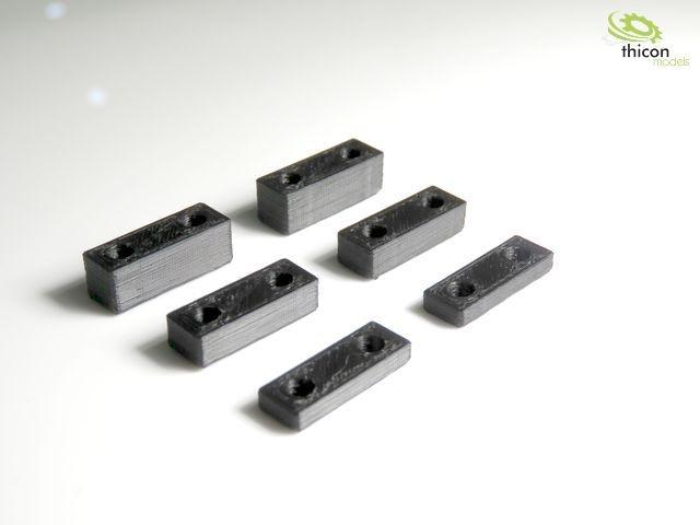 1:14 Höherlegung 3/5/7mm für eine Achse (je 2Stück)