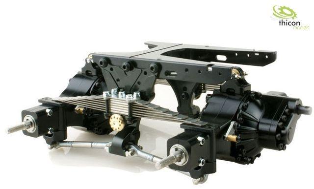1:14 Pendelfederung V2 hinten Alu schwarz für Differenziale
