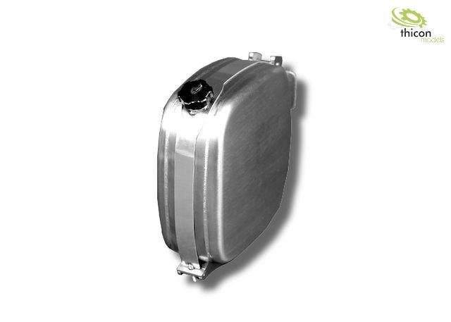 1:14 Kraftstoff/Hydrauliktank 36mm mit Tankhalter Alu