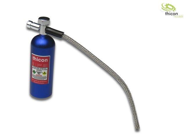 1:10 Lachgas-Druckflasche Alu blau mit Aufkleber