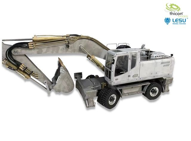 1:14 wheeled excavator 4x4 with support kit unpainted