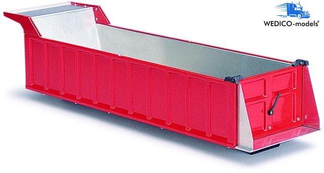 Mulden-Aufbau, Auflieger, rot