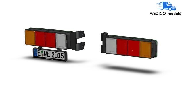 4-Chamber LED-Rear Lights with number plate