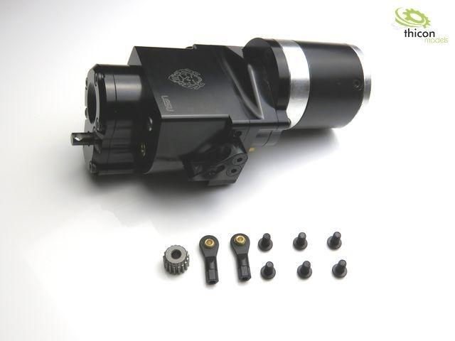 1:14 2-Gang-Getriebe Heckantrieb Metall 14:1 für 540er Motor