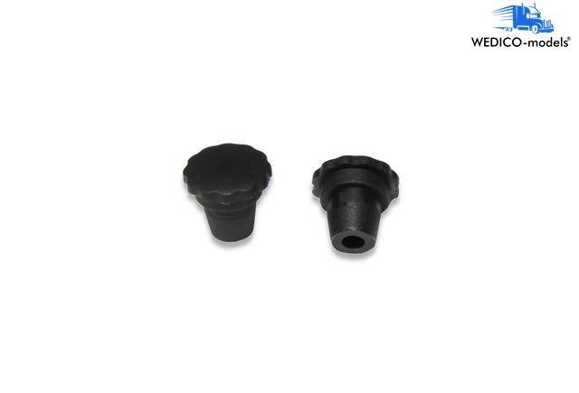 Tank cap black 2 pieces