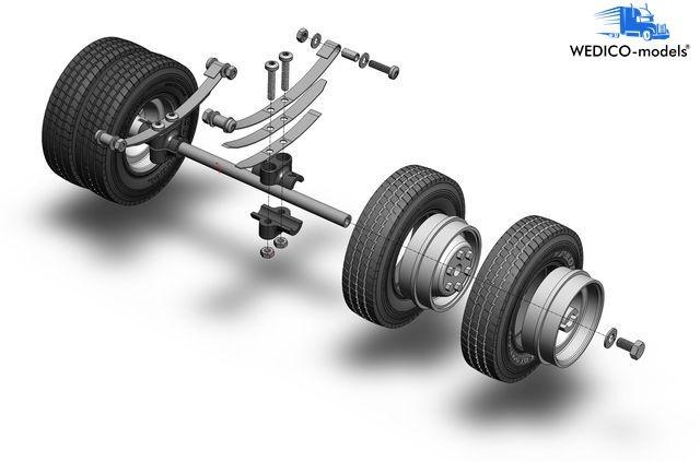 Wedico 103-W Hinterachse fürStandard-Fahrgestelle zwillingsbereift