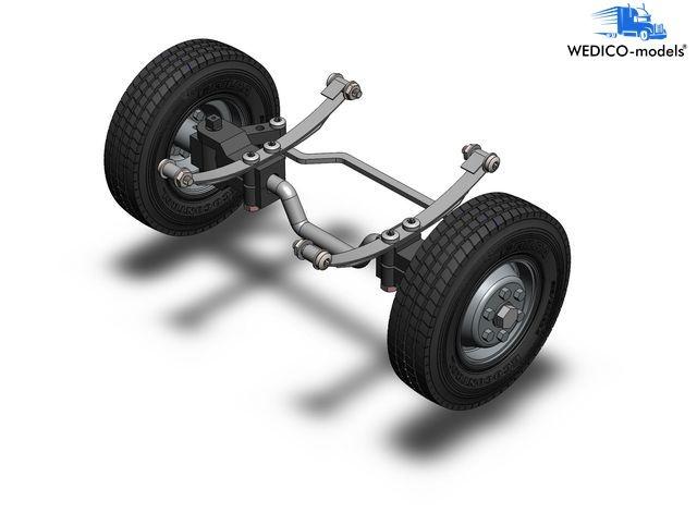 Vorderachse für Standard-Fahrgestelle mit Lenkung und Rädern