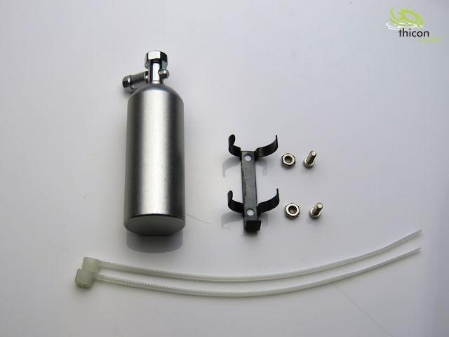 1:10 Lachgas-Druckflasche Alu silber