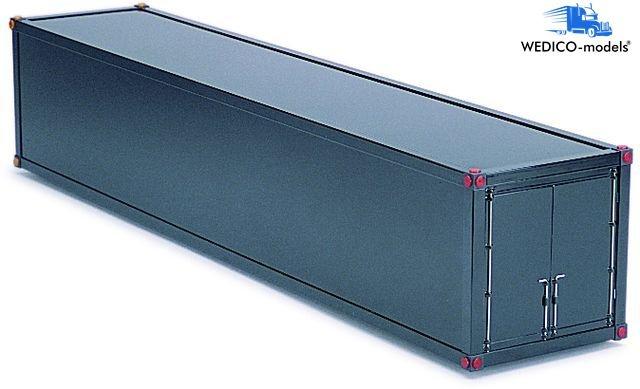 Container-Aufbau, für Auflieger weiß