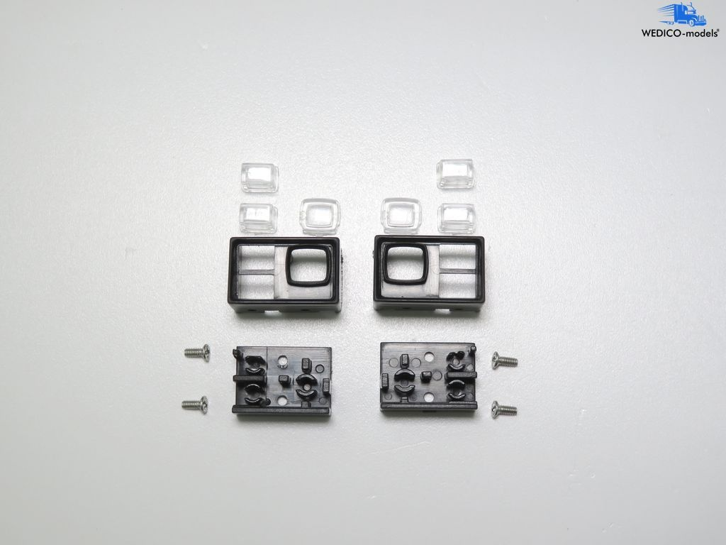 Cat 966 G II lamp set taillights with frame and glasses