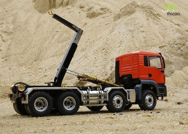 1:14 8x8 hook lift truck with tipper and hydraulic ARTR
