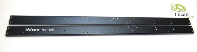 1:14 Rahmenprofile schwarz (R+L) für thicon 6x6 LKW 458mm