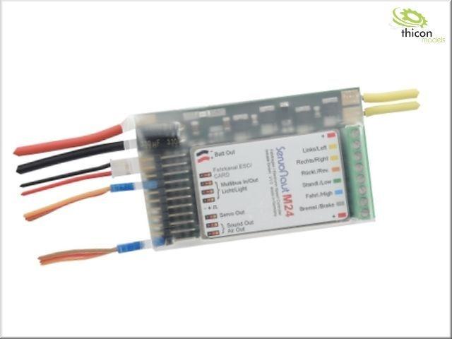 M24 Fahrtregler mit Tempomat, 4A S-BEC und Lichtanlage