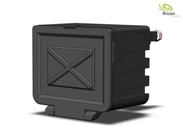 1:14/1:16 storage box with holder for trucks and trailers