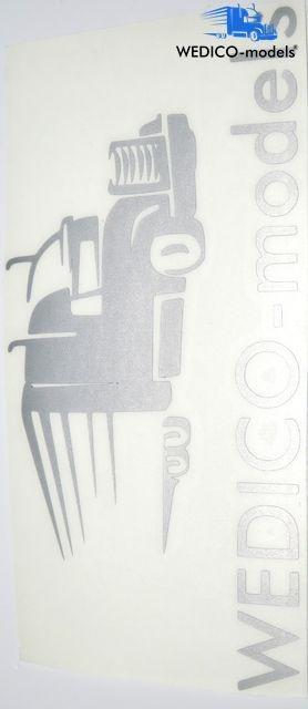 Aufkleber Wedico-models Logo silber geplottert 180x95mm