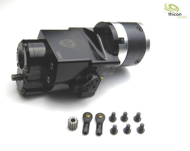 1:14 2-Gang-Getriebe Heckantrieb Metall 5:1 für 540er Motor