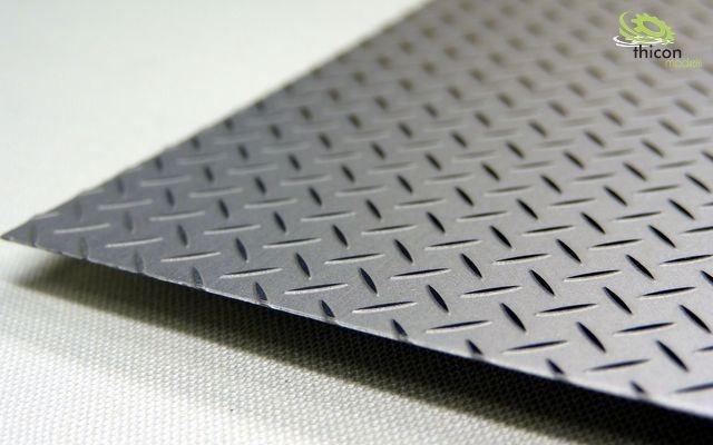 Riffelblech Edelstahl 20x30cm 0,35mm stark