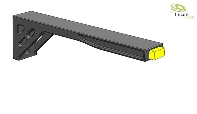 1:14 Begrenzungsleuchten LED gelb mit Halter 2Stück