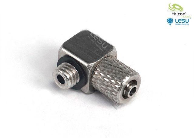 Hydraulik Anschluss-Nippel gewinkelt M5 für 4/2,5mm Schlauch