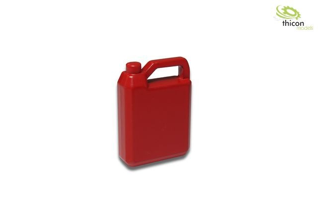 Oil canister 4L made of metal, red