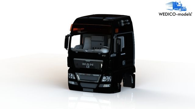 MAN TGX XXL-V8 Fahrerhaus, schwarz