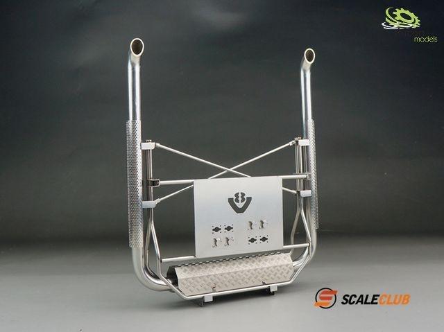 1:14 Auspuffanlage für SCANIA mit Geräteträger V2A