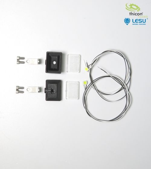 Headlight rectangle set with LED white