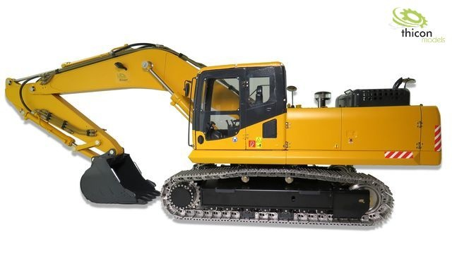 1:14 Kettenbagger 36t Bausatz aus Edelstahl mit Hydraulik