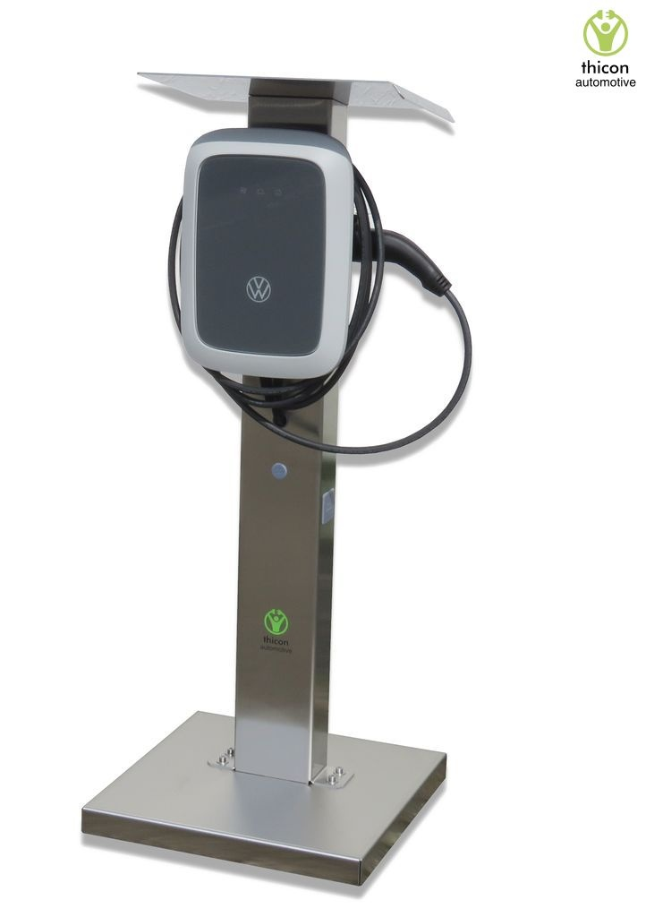Charging station VLS-1 brushed stainless steel for VW Wallbo