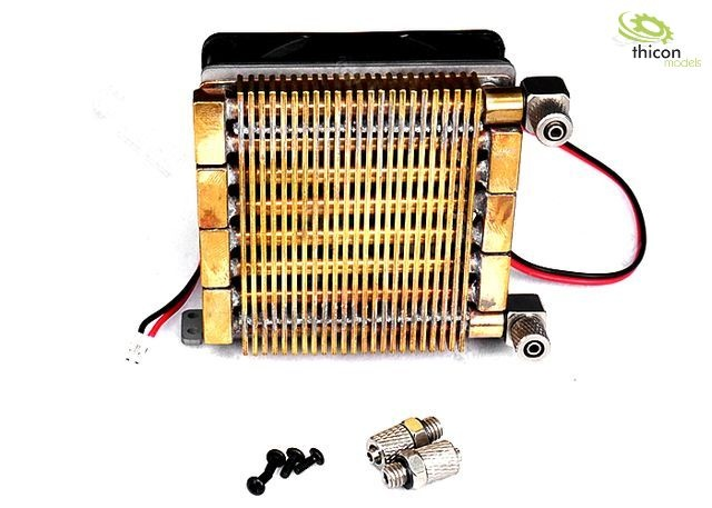Hydraulic oil cooler big with fan