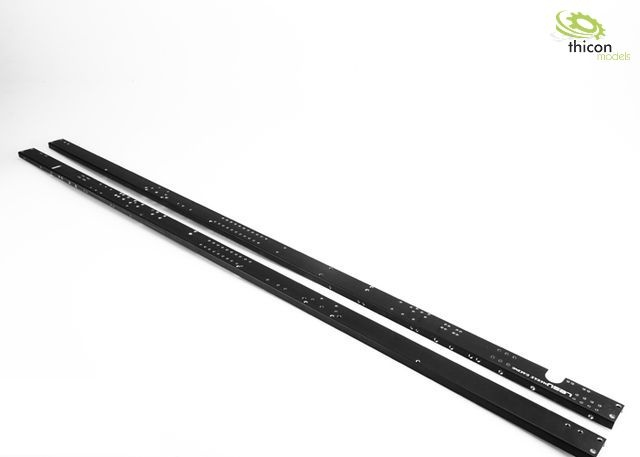 1:14 Frame profile 3-Axle extra long Alu black with thread