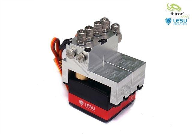 Hydraulic control valve aluminum 2-fold with servos