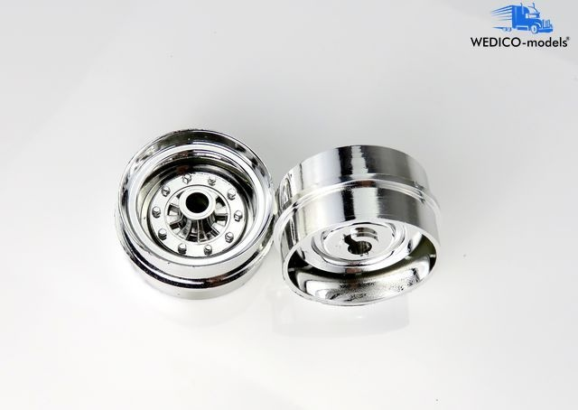 Front axle rims, chromed f.wide tyres